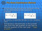 pro rata distribution method