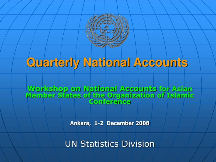 quarterly national accounts n.