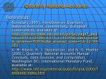 quarterly national accounts1