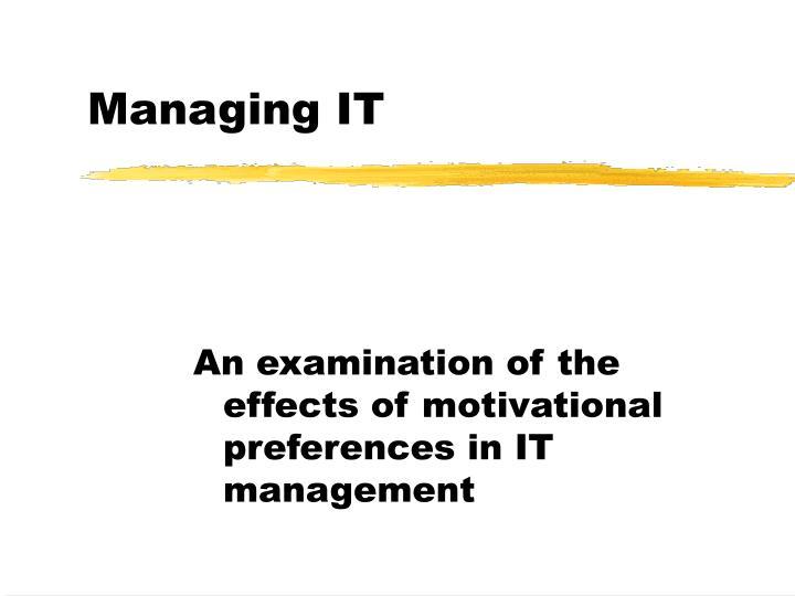 managing it n.