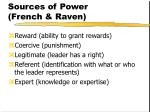 sources of power french raven