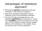 advantages of statistical approach