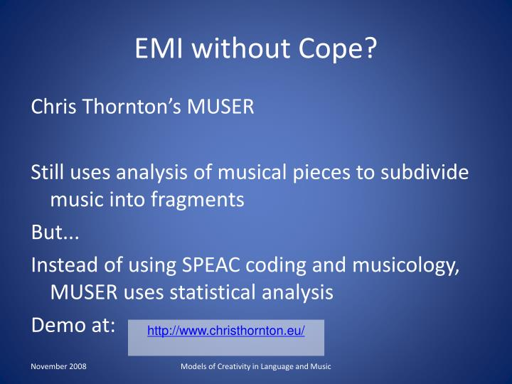 EMI without Cope?