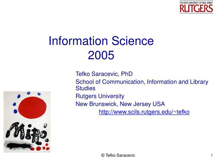 information science 2005 n.