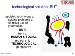 technological solution but