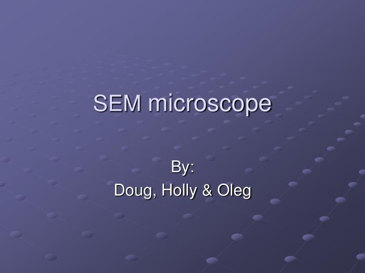 sem microscope n.