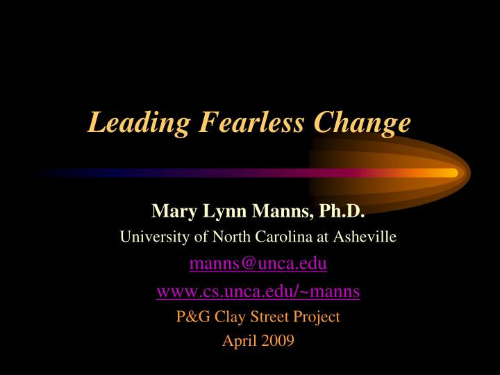leading fearless change n.