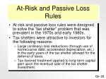 at risk and passive loss rules