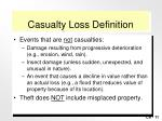 casualty loss definition11