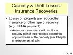 casualty theft losses insurance recoveries