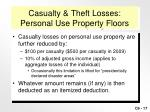 casualty theft losses personal use property floors