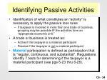 identifying passive activities