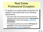 real estate professional exception