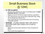 small business stock 1244
