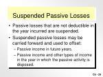 suspended passive losses