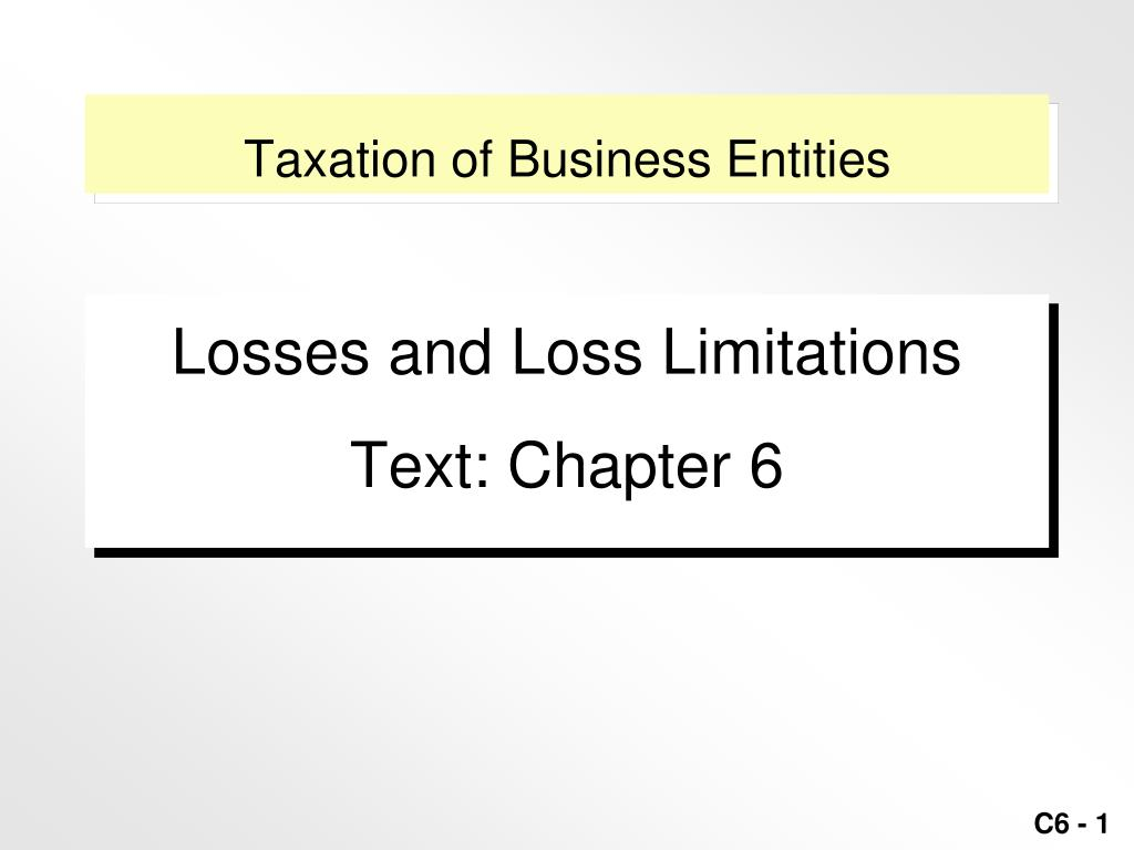 taxation of business entities l.