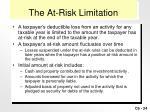 the at risk limitation