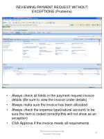reviewing payment request without exceptions problems2