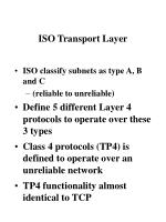 iso transport layer