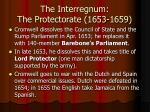 the interregnum the protectorate 1653 1659