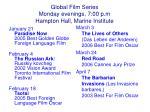 global film series monday evenings 7 00 p m hampton hall marine institute