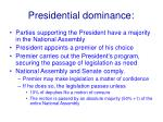 presidential dominance
