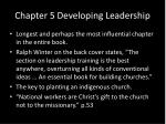 chapter 5 developing leadership