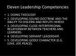 eleven leadership competencies
