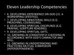eleven leadership competencies1