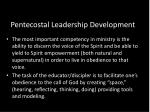 pentecostal leadership development
