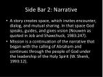 side bar 2 narrative