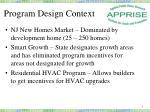 program design context