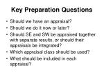 key preparation questions