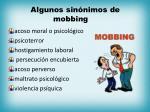 algunos sin nimos de mobbing