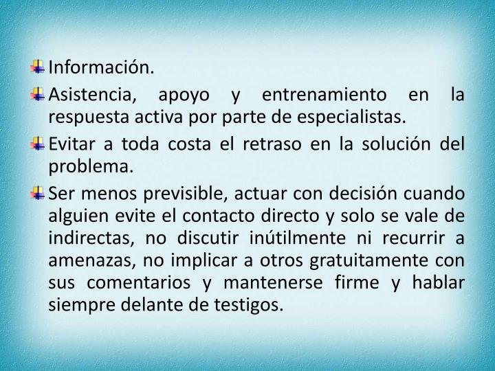 Información.