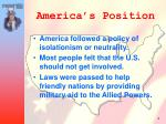 america s position