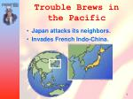 trouble brews in the pacific