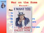 war on the home front1