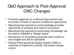 qbd approach to post approval cmc changes