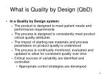 what is quality by design qbd