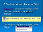 a simple java applet drawing a string