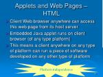 applets and web pages html3