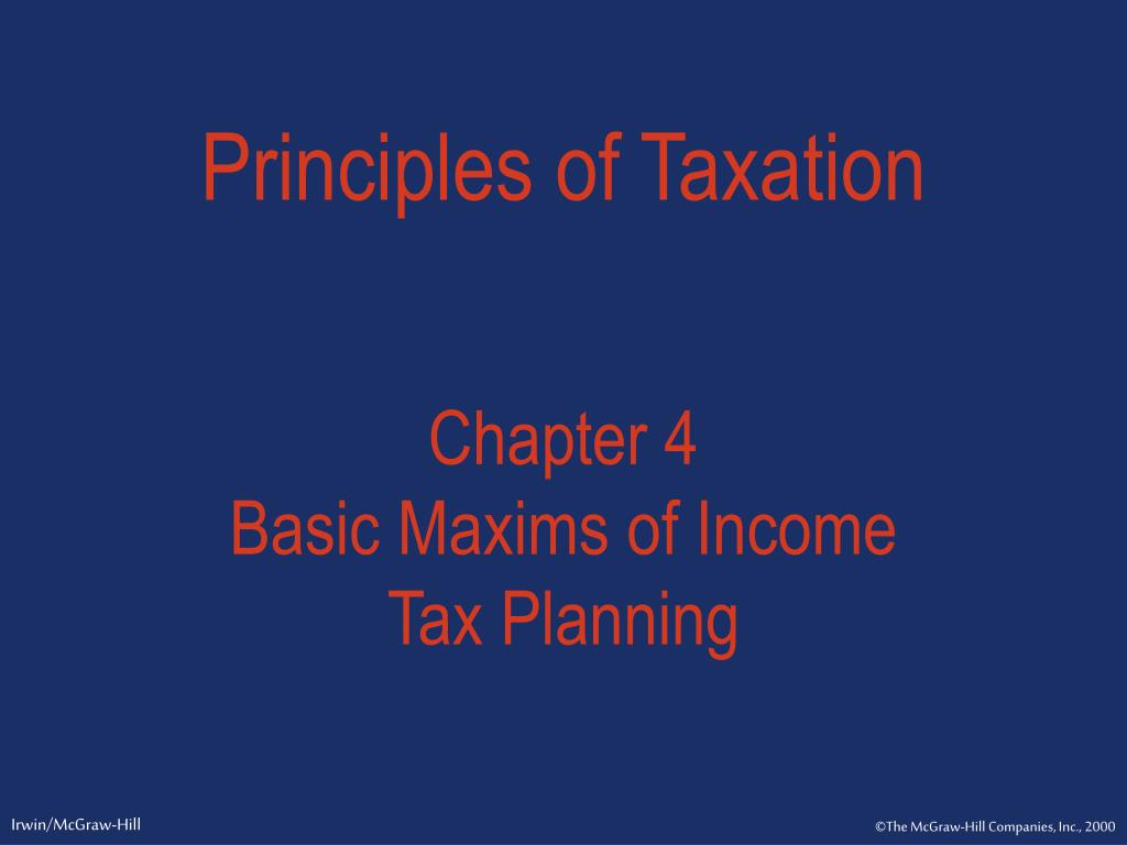 principles of taxation l.