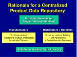 rationale for a centralized product data repository