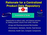 rationale for a centralized product data repository1