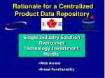 rationale for a centralized product data repository2