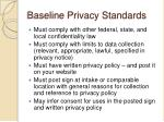 baseline privacy standards