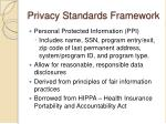 privacy standards framework