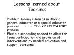 lessons learned about teaming