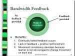 bandwidth feedback
